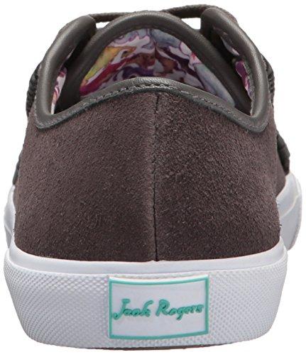 Jack Rogers Vrouwen Carter Fashion Sneaker Houtskool Waterdicht Suede