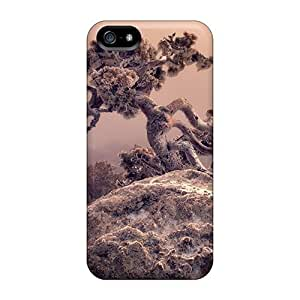 Premium Samsung Galaxy S5 I9600/G9006/G9008 Case - Protective Skin - High Quality For Amazing Tree Growing In A Rock In Winter