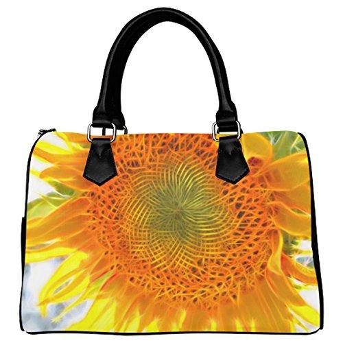 Jasonea Women Boston Handbag Top Handle Handbag Satchel Sunflower20150815 Basad155536