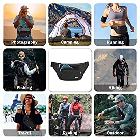 Fanny Pack for Men and Women, Yome Waist Pack Belt Bags with Adjustable Strap(Black)