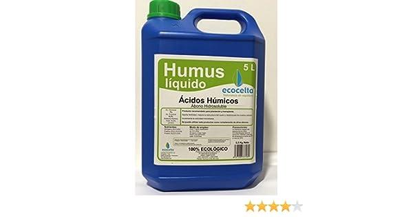Ecocelta Humus liquido 5 l Negro ZA29: Amazon.es: Jardín