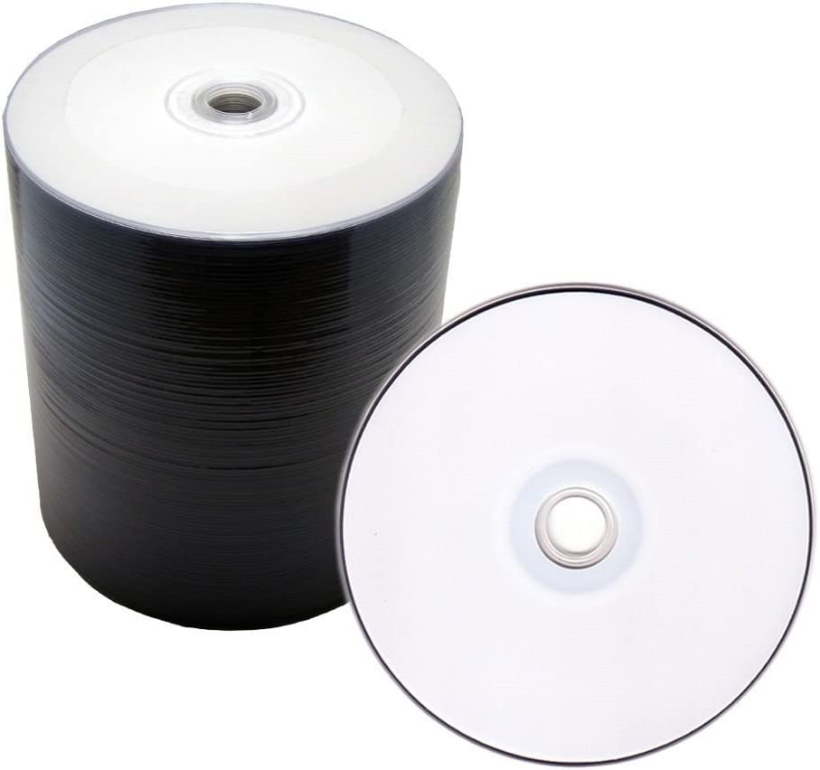 MAM-A/Mitsui 80Min 700MB 52X Silver White Thermal Non-Hub CD-R Media 100 Pack