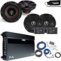 MB Quart Speaker package - ZA2-1600.4 Amp, a Pair of ZC1-216 6.5 Components, a pair of XK1-116 6.5 Coaxials & Wire Kit