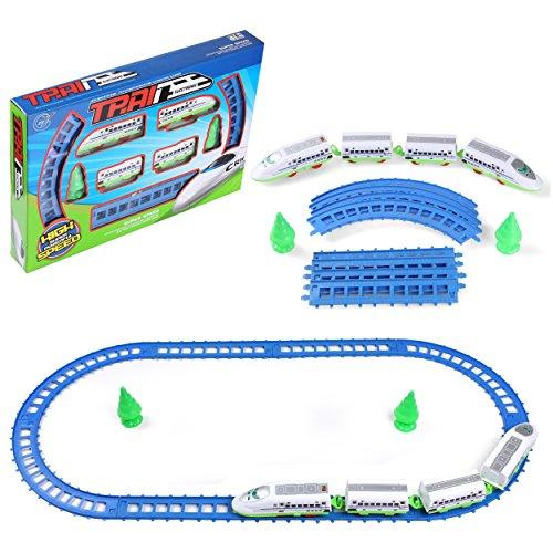 Winter Ride Train - My First Speed Train Beginner Set Educational Play Toy Train Railway Building Block Preschool