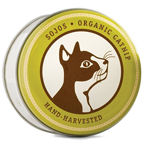 - Sojos Hand-Picked 100% Organic Catnip, 1-Ounce Tin
