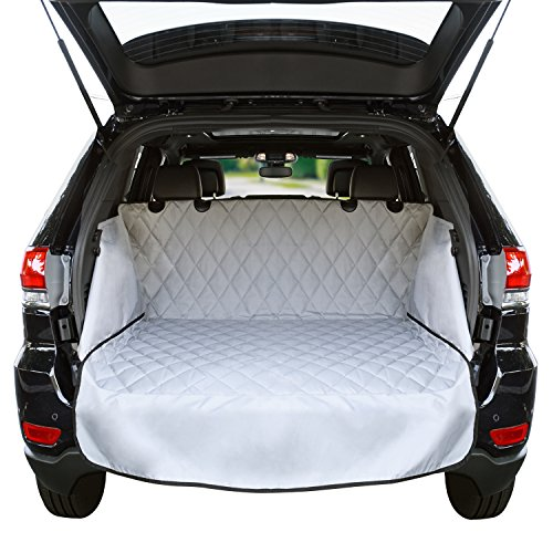 - Cargo Liner For SUV's and Cars, Waterproof Material, non Slip Backing, With Side Walls Protectors, Extra Bumper Flap Protector, Large Size - Universal Fit