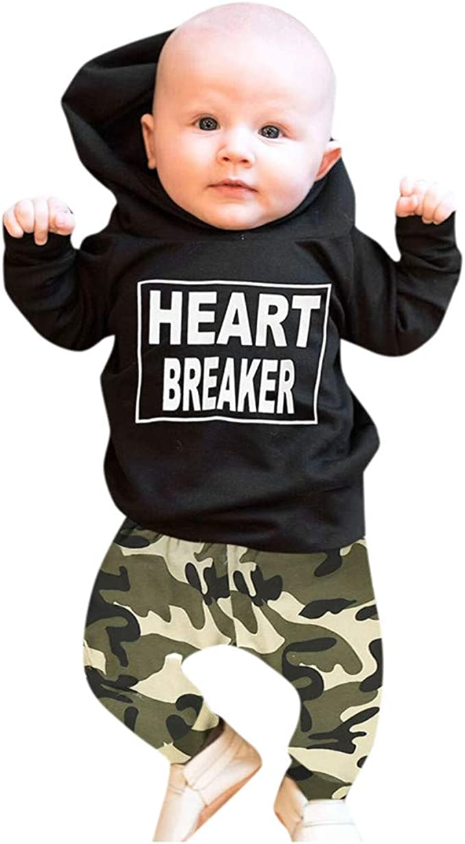 2pcs Baby Kid Girl Boy Toddler Clothes Hooded Top Pants Toddler Outfit Tracksuit