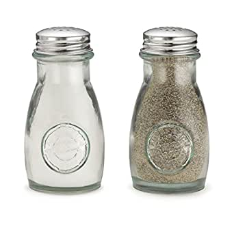 Collectible Vegetable Ceramic Glass Kitchen Salt and Pepper Shaker