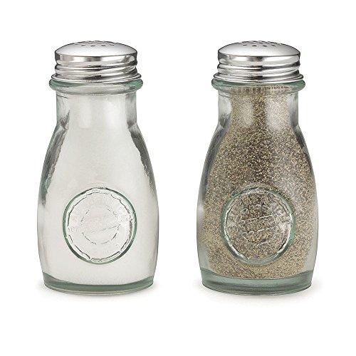 TableCraft 6618 Green Glass 4 Ounce Salt/Pepper Shaker - 24 / CS ()