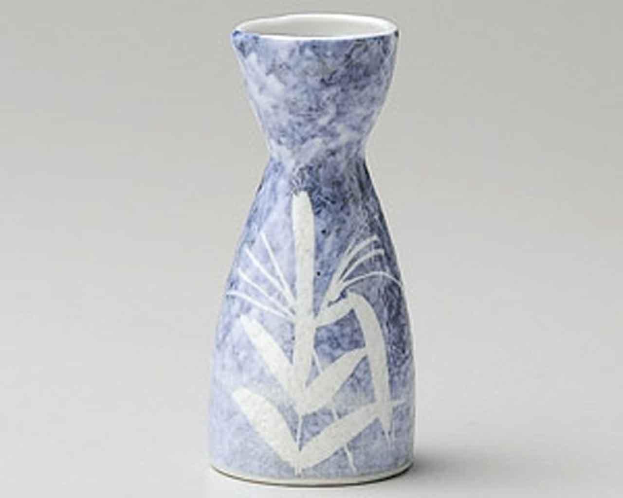 Awayuki Ashi Blue 3.1inch Set of 5 Sake carafes White porcelain Made in Japan