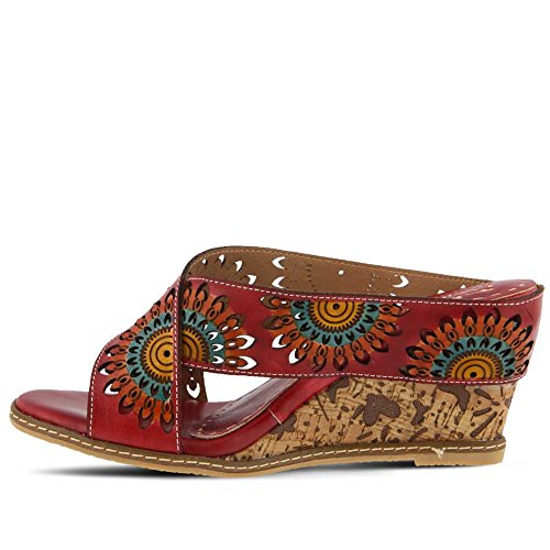Leather Style L'Artiste Spring Women's Sandal Multi Step Enticing by Red SnaUaxqfY