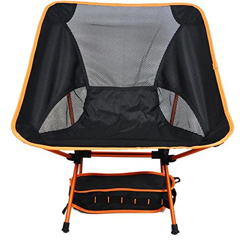 Heruai Camping Picnic Folding Chairs Light Leisure Folding Portable Padded Chair Folding Camping Chair Aluminum Alloy Bracket , orange by Heruai (Image #2)