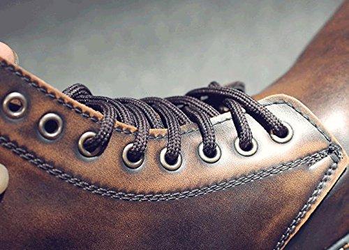 Pelle Alta Pizzo Stivali In 47 Morbida Comode Uomo Di Da Qualit¨¤ Alti Martin Scarpe CSt8HpwCq
