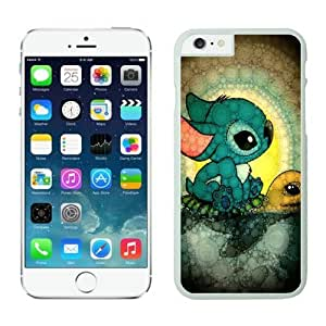 Cute Stitch and Turtle s iPhone 6 Case White