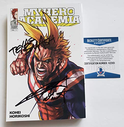 "Chris Sabat autographed Manga Volume 11 Comic Book My Hero Academia All Might""Texas Smash!"" Beckett"