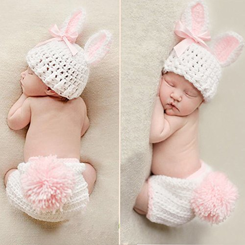 [Baby Girls Boys Newborn Crochet Knit Costume Photo Photography Prop Outfits hat] (Cute Baby Twin Halloween Costumes)