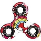 Einhorn Fidget Spinner, Unicorn Hand Spinner, Finger Spinner für Erwachsene und Kinder in rot