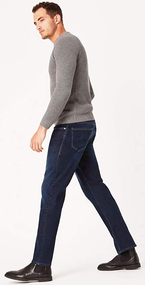 Mavi Mens Marcus Size 35//32 Slim Straight Leg Deep Blue Supermove Jeans
