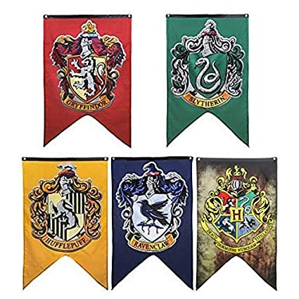 Banderines de Hogwarts de 125 cm x 75 cm de LawUza
