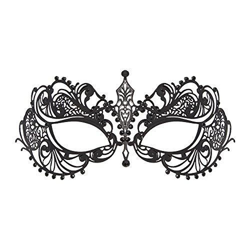 WINK KANGAROO Women's Laser Cut Metal Venetian Masquerade Crown Mask (Classic Style,