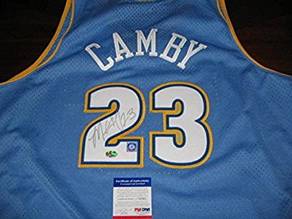 Marcus Camby Autographed Jersey - Umass - PSA DNA Certified - Autographed NBA  Jerseys 424bca71b