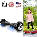WeSkate Hoverboard UL 2272 Certified 6.5' Electric Smart Self Balancing Scooter Board-Max 220lbs, 350W dual motors, Battery Power-off Protection, 6.5 MPH Speed