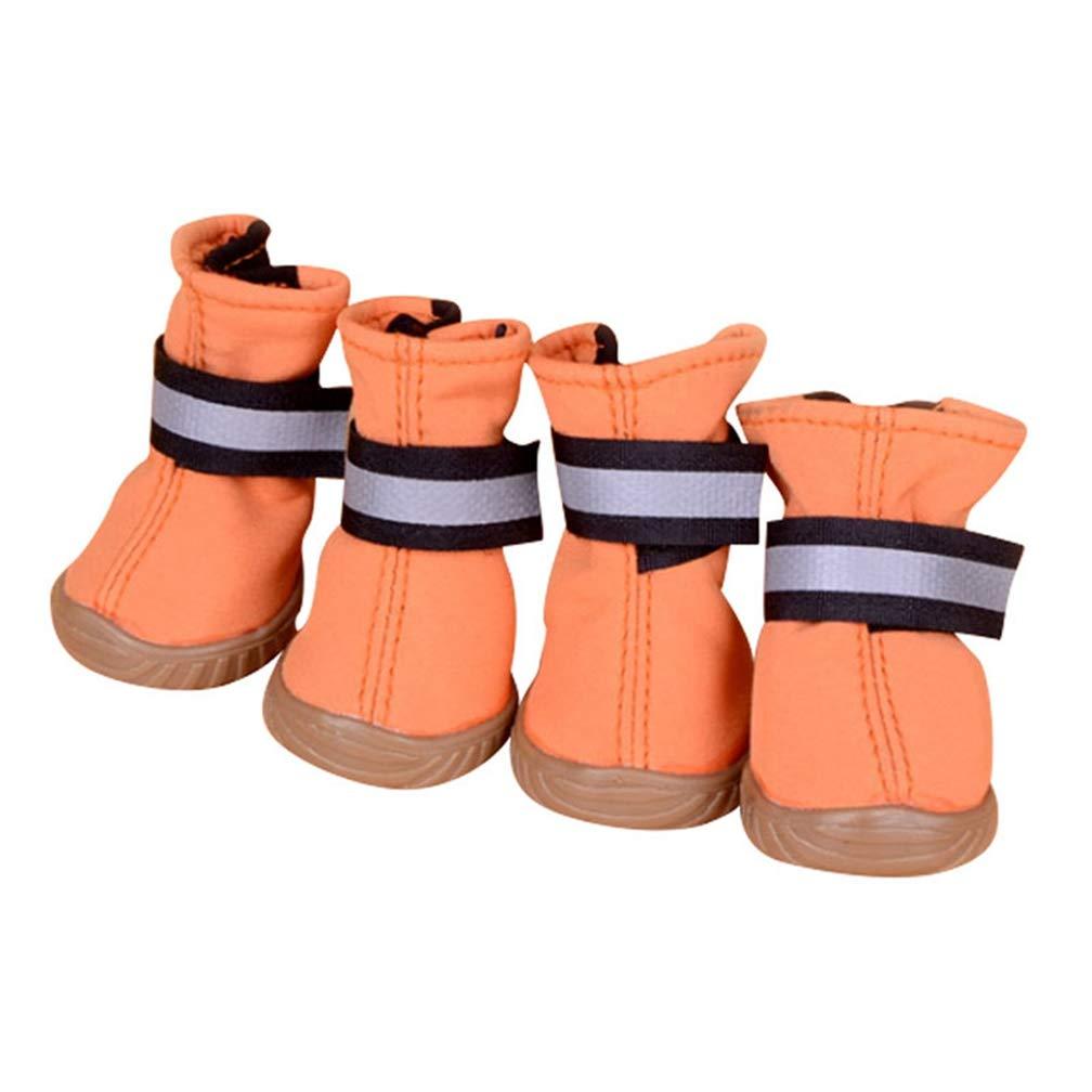 B M B M AOBRITON 4 Pcs Dog shoes High Waist Retriever Waterproof Breathable Winter Feet Large Cotton Boots Pet Dog Paw Predection