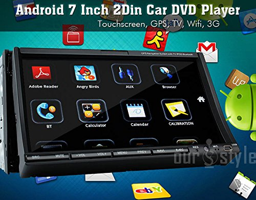 New Style 2din Car DVD Player with 7 Inch Android 4.2 Video Tablet Support Gps,3g,wifi,bt,ipod,capacitive Touch Screen Radio+Camera