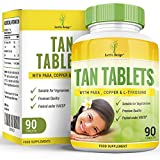 Tan Tablets - Natural Tanning Accelerator - Suntan Supplement with Tyrosine, PABA and Copper - 90 Tablets (2 Month Supply) by Earths Design