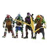 Shallen Teenage Mutant Ninja Turtles Movie 5'' Action Figure TMNT 4pcs/Lot Toys LY