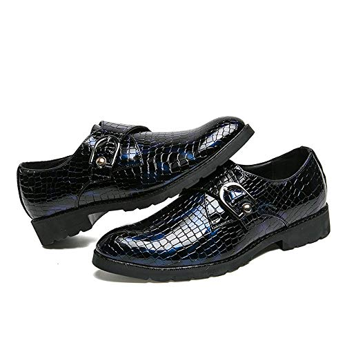 Forma Blu Men's da a Business Magic Oxford Cricket Verniciata Scarpe Scarpe Formali Stick Pelle di in Casual Coccodrillo BzwBTqA