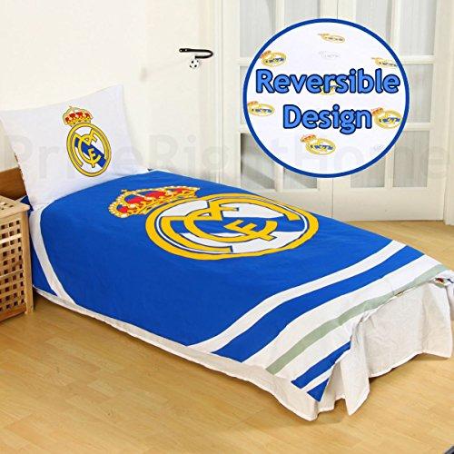 Reversible Single Duvet - Real Madrid Fc Pulse Reversible Single Duvet Quilt Cover And Pillowcase Set