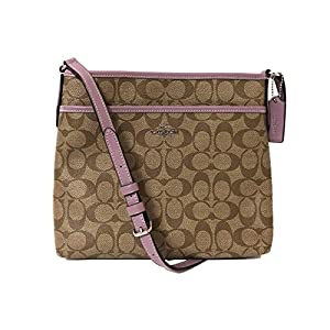 Coach Signature Zip File Crossbody Bag 19