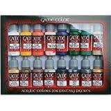 Vallejo Coffret de 16pots de peinture acrylique Couleurs assorties