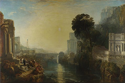 The Perfect Effect Canvas Of Oil Painting 'Joseph Mallord William Turner Dido Building Carthage ' ,size: 30 X 45 Inch / 76 X 114 Cm ,this Cheap But High Quality (Amber Rose Halloween Costumes)