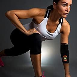 CopperHealth - Compression Elbow Sleeve, Guaranteed Highest Copper Content. Best Copper Infused Elbow Support For Workouts, Golfers And Tennis Elbow Brace. Copper Elbow Sleeve for Men and Women-single
