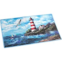 Collections Etc Lighthouse Non Skid Accent Rug