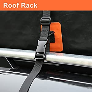 G4Free 18 Cubic Feet Car Top Carrier, Easy to Install Soft Roof Top Cargo Bag with Wide Straps-Works With or Without Roof Rack (Upgraded Version)