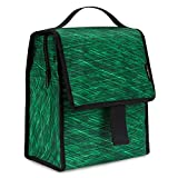 Insulated Lunch Bag, MoKo Reusable Outdoor Travel Picnic School Lunch Box Collapsible Tote Bag with Front Pocket, Zipper Closure, Foldable & Multi-use for Men, Women and Kids - Forest Green