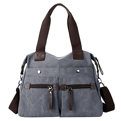 Women's Canvas Eshow Purse Bag Shoulder Everyday Black01 q15d5