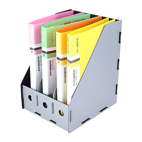 Crystallove DIY 3-Tier Magazine Holder Paper File Organizer