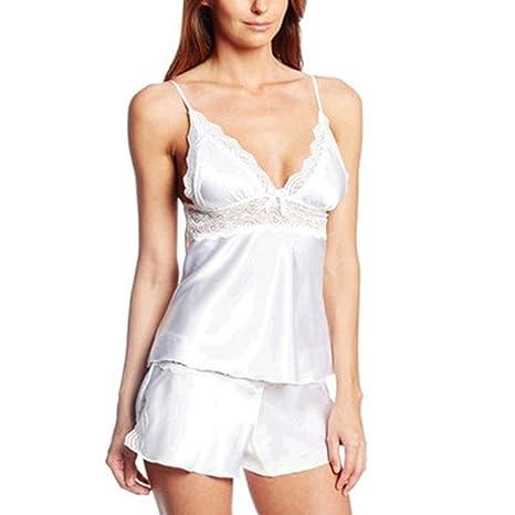 f74bc7dcaf7 Amazon.com: Ice Man made fiber Women Sexy Pajamas Arranged Sleepwear ...