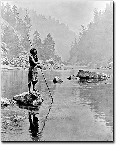 Hupa Indian in Sugar Bowl Edward S. Curtis 11x14 Silver Halide Photo Print