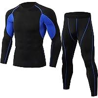 BOLAWOO-77 Functioneel ondergoed voor heren, skiondergoed, sneldrogend, onderhemd met lange mouwen, functioneel shirt en…