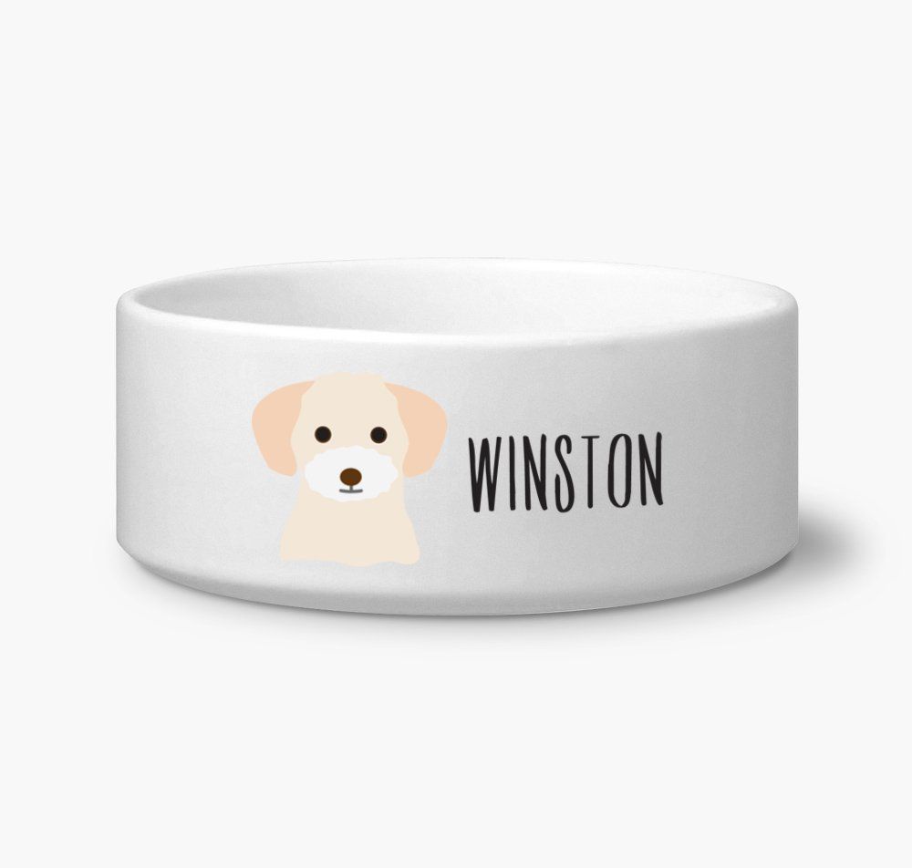Amazon com: Bichon Frise Dog Custom Name Dog Bowl Ceramic