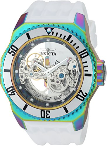 (Invicta Men's Russian Diver Stainless Steel Automatic-self-Wind Watch with Silicone Strap, White, 36 (Model: 25629))