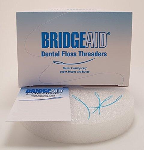 BridgeAid FlossAid FA-100 Dental Floss Threaders 10/pack BUY 10 Packs Get 2 FREE (Threader Edge)
