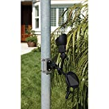 Automatic or Manual at Dusk to Dawn Flagpole Solar 15 Hour Illumination LED Light Flag Bracket with Rechargable Batteries