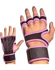 Ady Products Guantes de Entrenamiento Crossfit y Gimnasio Fitness, Guantes para Gym con Soporte Ajustable para la muñeca, Hombre y Mujer