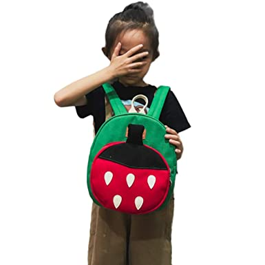4c53fe406c child baby girl boy kids cartoon strawberry fruit backpack toddler school  bag printing rucksack book boys
